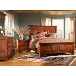 A-America Kalispell 4 Piece Bedroom Set in Mahogany