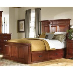 A-America Kalispell King Panel Storage Bed in Mahogany