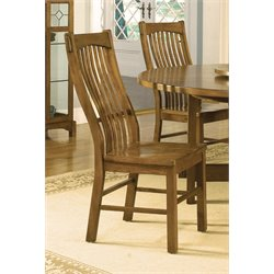 A-America Laurelhurst Slatback Dining Chair in Rustic Oak