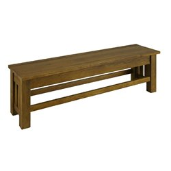 A-America Laurelhurst Bench in Rustic Oak