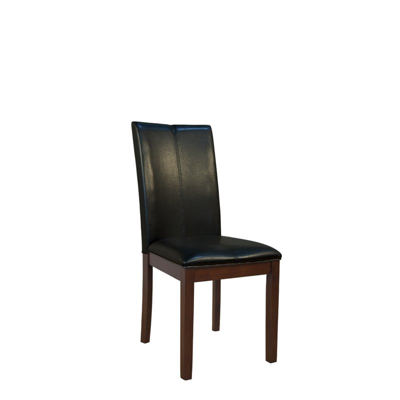 Faux Leather Parsons Dining Room Chairs: A-America Parson Faux Leather Dining Chair In Black 767630060360
