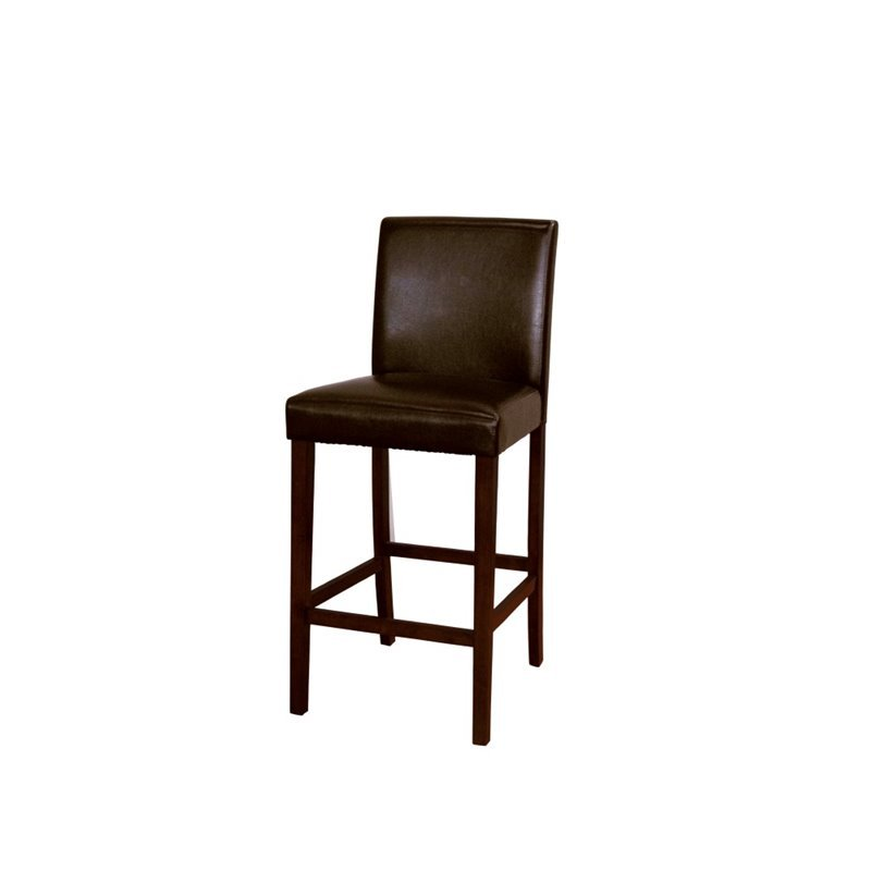 A America Parson 30 Quot Low Back Faux Leather Bar Stool In