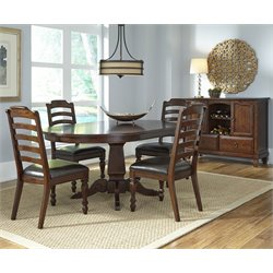 A-America Phinney Ridge Oval Dining Set in Brown