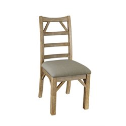 A-America West Valley Ladderback Dining Chair in Rustic Wheat