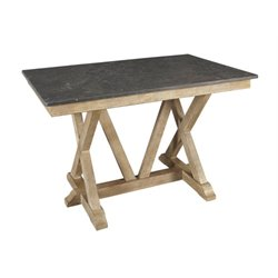 A-America West Valley Counter Height Dining Table in Rustic Wheat