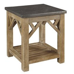 A-America West Valley End Table in Rustic Wheat
