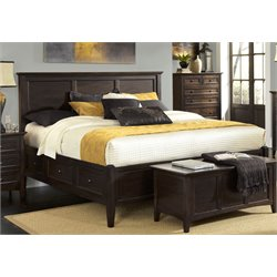 A-America Westlake Queen Panel Storage Bed in Dark Mahogany
