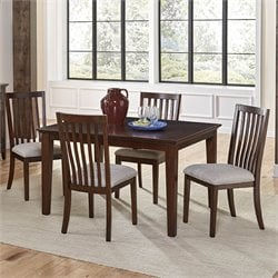 A-America Westlake 5 Piece Extendable Dining Set in Cherry Brown