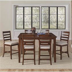 A-America Westlake 7 Piece Extendable Counter Height Dining Set