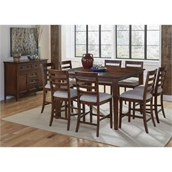 A-America Westlake 10 Piece Extendable Counter Height Dining Set