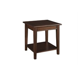 A-America Westlake End Table in Cherry Brown