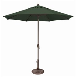 SimplyShade Lanai Patio Umbrella in Forest Green
