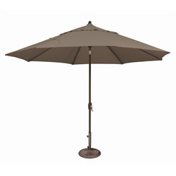 SimplyShade Lanai Patio Umbrella in Taupe