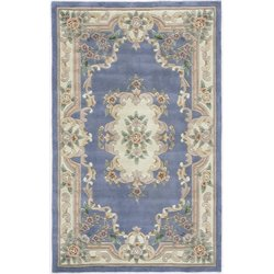 Rugs America New Aubusson 5' x 8' Rug in Light Blue