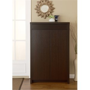 Furniture of America Parker Modern Shoe Cabinet in Cappuccino