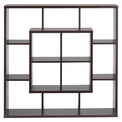 Furniture of America Boyd Modern Square Bookcase in Walnut