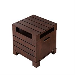 Furniture of America Bartoll Storage End Table in Vintage Walnut