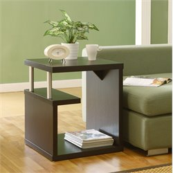 Furniture of America Brockton End Table in Cappuccino