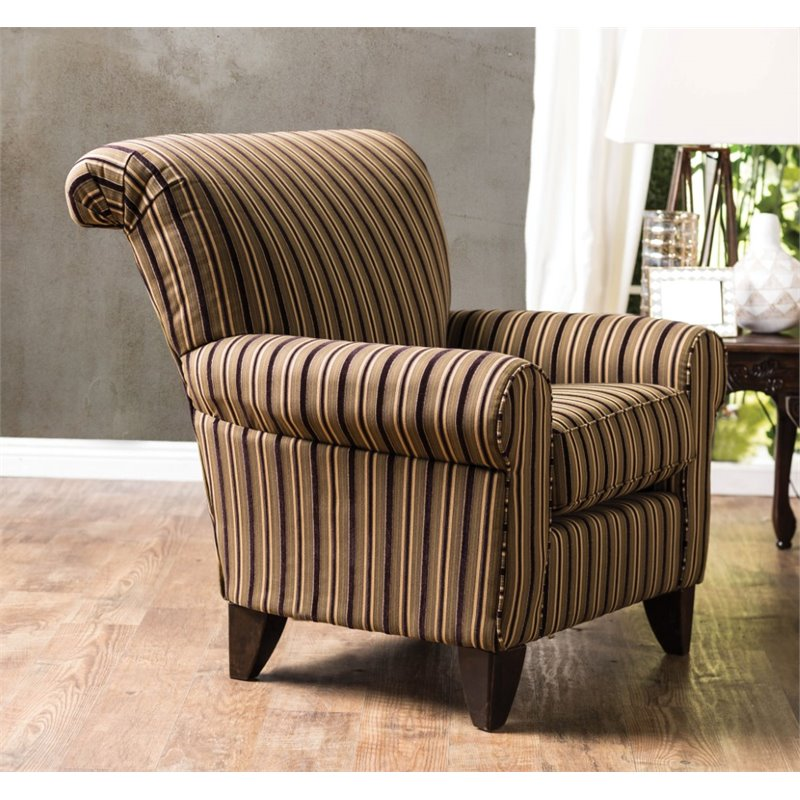 Furniture of America Tanner Upholstered Accent Chair in Tan