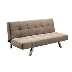 Furniture of America Camron Fabric Sleeper Sofa Bed in Light Brown