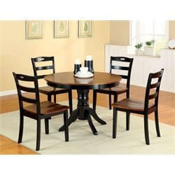 Furniture of America Randle 5 Piece Round Dining Set in Antique Oak