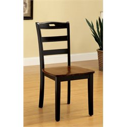 Furniture of America Randle Dining Chair in Antique Oak (Set of 2)