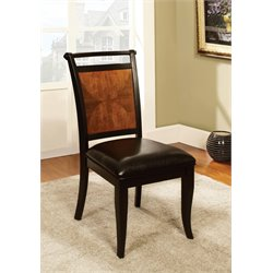 Furniture of America Leda Dining Chair in Black (Set of 2)