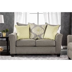 Furniture of America Hera Fabric Loveseat in Gray
