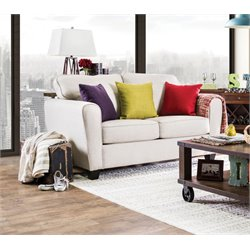 Furniture of America Dawson Fabric Loveseat in Beige