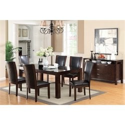 Furniture of America Glen 7 Piece Dining Set in Dark Cherry