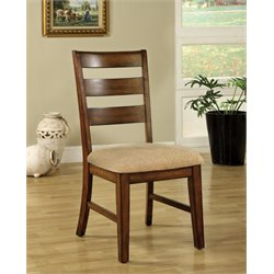 Furniture of America Nessa Dining Chair in Antique Oak (Set of 2)