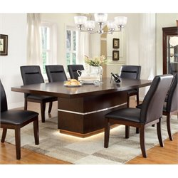 Furniture of America Braylin LED Dining Table in Cherry