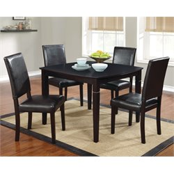 Furniture of America Hinter 5 Piece Dining Set in Dark Cherry