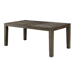 Furniture of America Rutundid Extendable Dining Table in Gray