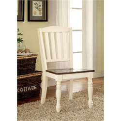 Furniture of America Gossling Dining Chair in White (Set of 2)