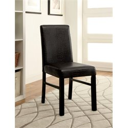 Furniture of America Kenneth Dining Chair in Black (Set of 2)