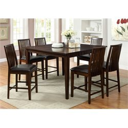 Furniture of America Schipani 7 Piece Extendable Counter Dining Set