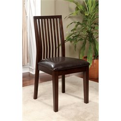 Furniture of America Schipani Dining Chair in Walnut (Set of 2)