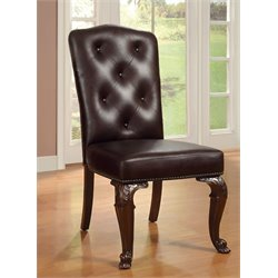Furniture of America Ramsaran Upholstered Dining Chair (Set of 2)