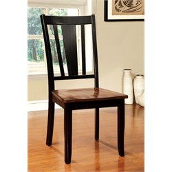 Furniture of America Delila Dining Chair in Cherry (Set of 2)