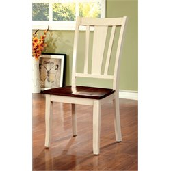 Furniture of America Delila Dining Chair in Cream White (Set of 2)