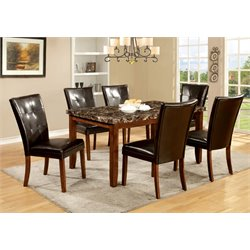 Furniture of America Traline 7 Piece Dining Set in Natural Wood