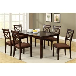 Furniture of America Dien 7 Piece Dining Set in Espresso