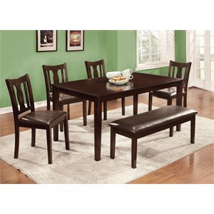 Furniture of America Bowring Dining Set in Espresso