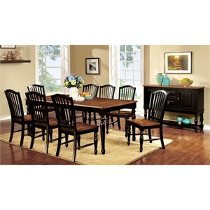 Furniture of America Sallie Extendable Dining Set in Oak