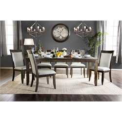 Furniture of America Bonet Extendable Dining Table in Gray