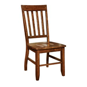 Furniture of America Duran Dining Chair in Natural Wood (Set of 2)