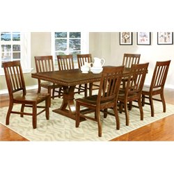 Furniture of America Duran Dining Set in Natural Wood