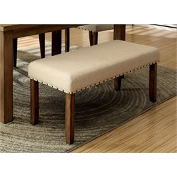 Furniture of America Spier Dining Bench in Natural Wood