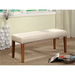 Furniture of America Georgie Dining Bench in Natural Tone